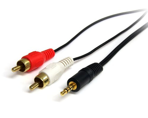 Image of StarTech MU6MMRCA 6 Foot Male 3.5mm to Male RCA Stereo Audio Cable
