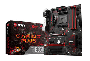 MSI B350 GAMING PLUS AM4 AMD B350 SATA 6Gb/s USB 3.1 HDMI ATX AMD Motherboard