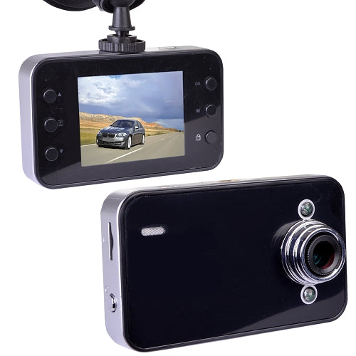 "Automotive 720p HD Dashcam with Night Vision, 2.4"" LCD Screen & Windshield Mounting (Records to microSD Card)"