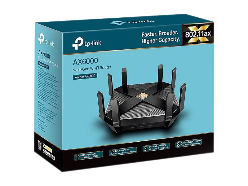 TP-Link WiFi 6 AX6000 8-Stream Smart WiFi Router (NEW)