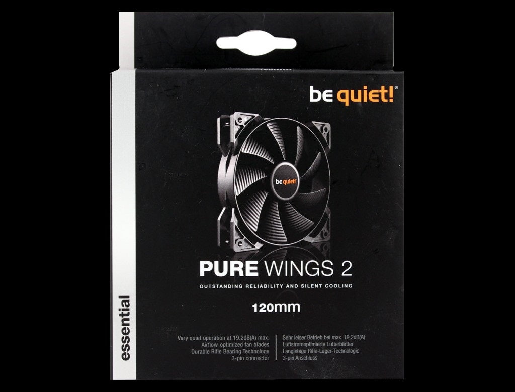 be quiet! BL046 PURE WINGS 2 120mm Max.1500RPM 51CFM 19dB(A) Cooling Fan