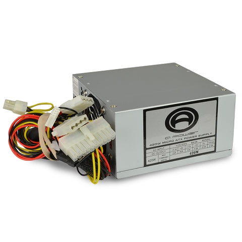 Image of A-Power 420 Watt 20pin mATX Power Supply w/ SATA Support - 420W (MicroATX)
