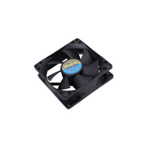 Masscool FD08025S1M3/4 3/4-Pin Sleeve Bearing 80mm Case Fan (Black)