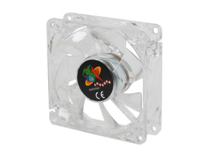 Logisys 80Mm Lighted Clear Case Fan W/ 3Pin & 4Pin Power - Lt400Bl (Blue)