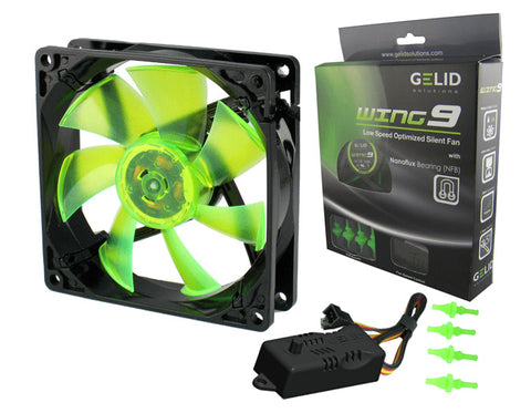 GeLid Wing9 FN-FW09-20 92mm 2000RPM 22.5dBa Silent Case Fan with RPM