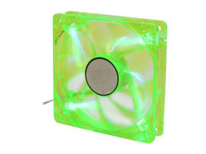 Logisys 120mm Green LED Lighted Case Fan with 3+4pin Power