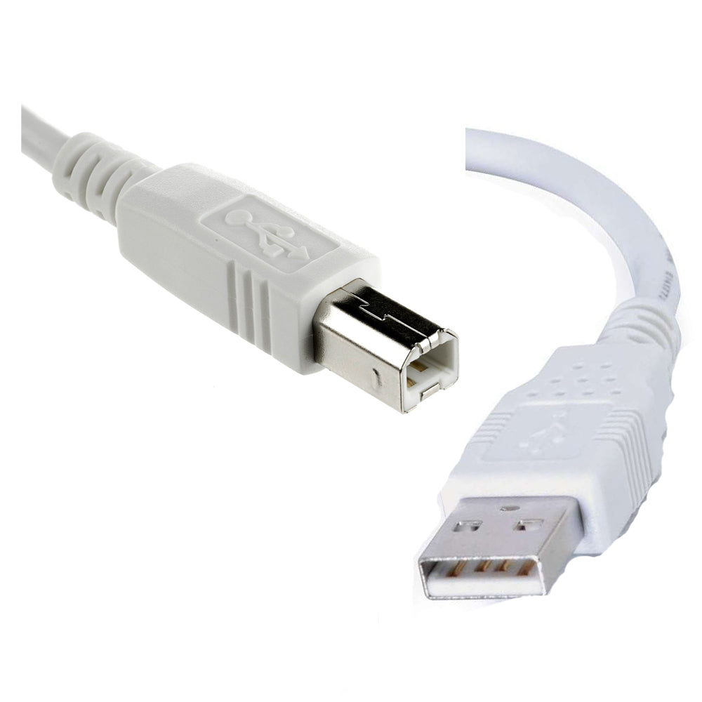 Battleborn 15 Foot USB 2.0 A to B Device Cable - USB Cable (BEIGE)