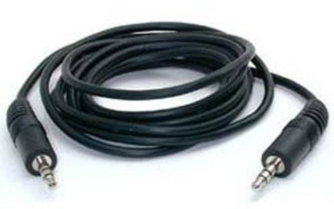 Image of BattleBorn 12 Foot Male-to-Male Stereo / Headphone 3.5mm Cable (BLACK)