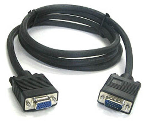 BattleBorn 100 Foot SVGA Male-to-Female Monitor Extension Cable - 100 Feet