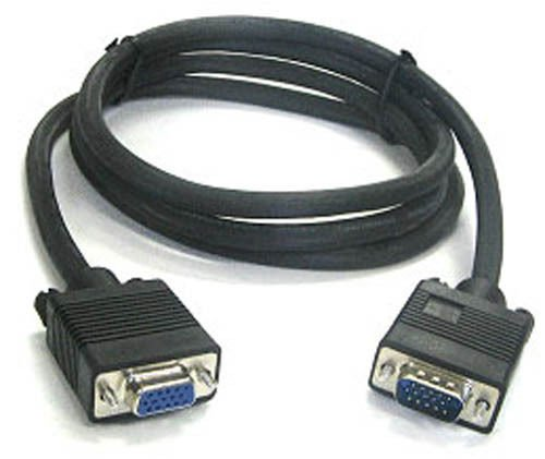 BattleBorn 6 Foot SVGA Male-to-Female Monitor Extension Cable - 6 Feet