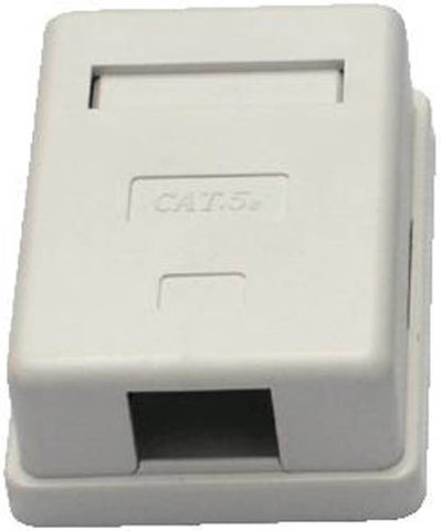 1-Port RJ45 Surface Mount Box (WHITE)