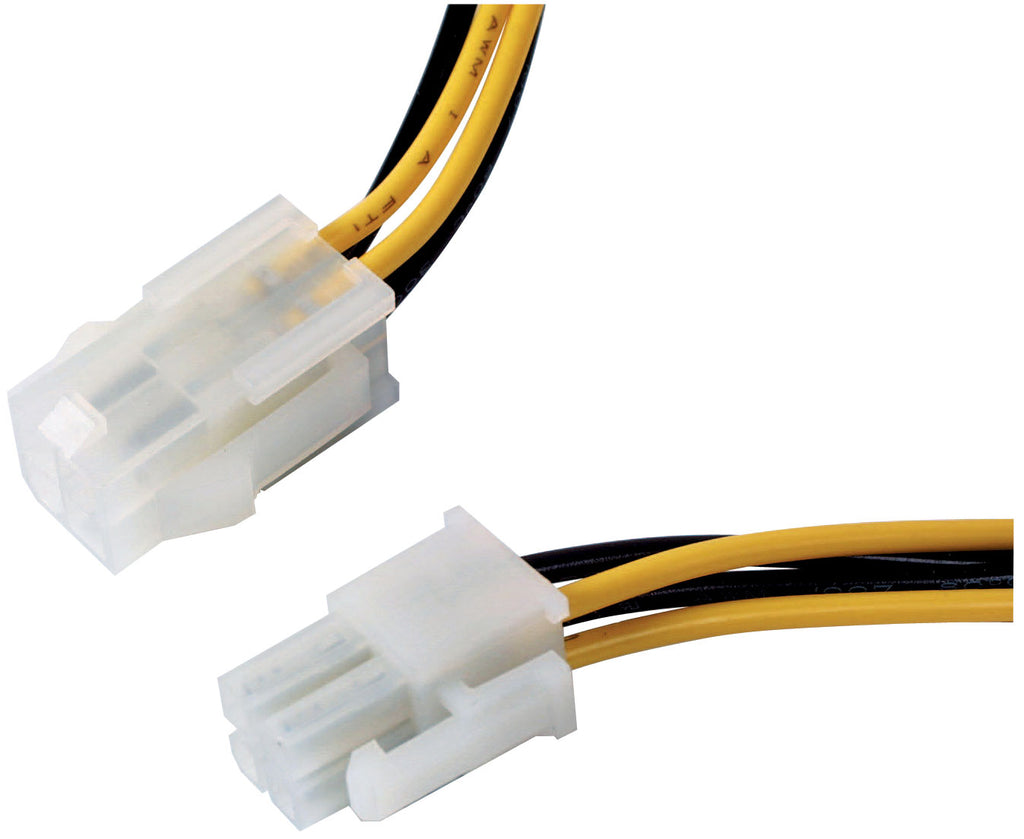 "Athena Power CABLE-AD09 8"" 4-pin P4 12V Power Extension Cable (Female to Male)"