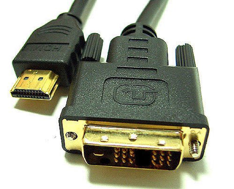 BattleBorn 50 Foot HDMI to DVI-D Male-to-Male Adapter Cable (DVI to HDMI)