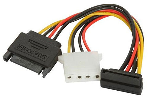 Athena Power CABLE-S15S15M4 SATA to SATA and Molex Adapter Cable