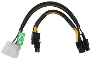 Athena PCIE4628 Power Dual 4-pin Molex to Dual 8-pin (6+2) PCIe Cable