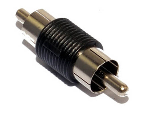 Image of RCA Male to Male Coupler Converter Adapter M/M Video Audio TV Connector