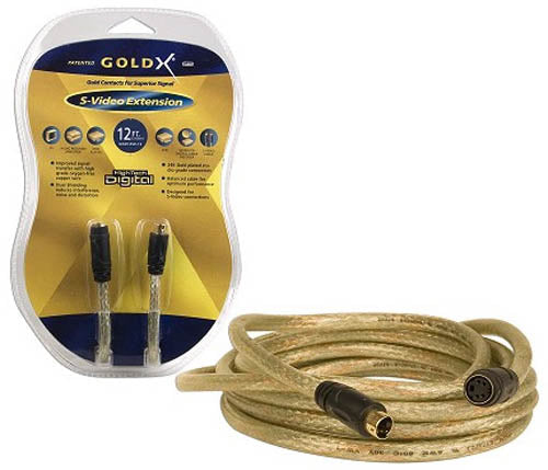 GoldX 12 Foot S-Video Extension Cable