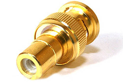BNC Male to RCA Female Adapter - Gold Plated - BNC to RCA