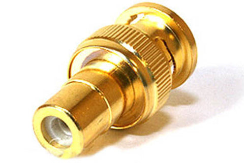 Image of BNC Male to RCA Female Adapter - Gold Plated - BNC to RCA