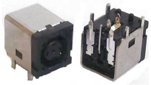 PJ030.1A DC Power Jack Octagonal for Dell Laptops / Notebooks - 2.5mm