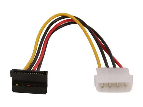 StarTech 6 inch 4 Pin Molex to Right Angle SATA Power Cable Adapter