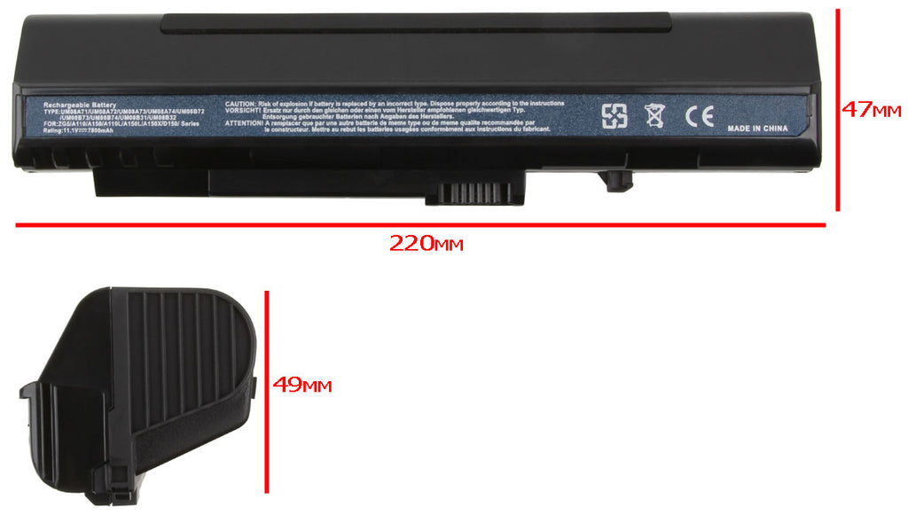 Laptop Battery for Acer Aspire A110 A150 D150 D250 ZG5 Series Laptops
