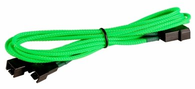 Image of BattleBorn CB-33F12V Green Molex to 2 x 3pin Cable - Braided Sleeve