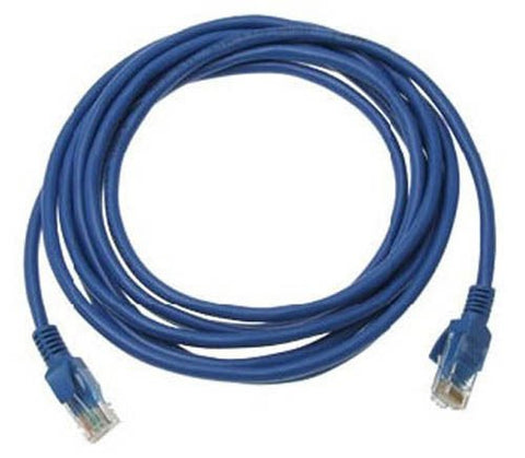 Image of 20 foot Cat5e RJ45 LAN Cable - 20 Foot (BLUE)