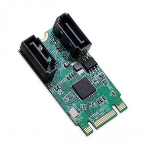 Syba SI-ADA40127 M.2 B+M Key 22x42 PCIe To 2 Ports SATA 6 G III Adapter Card