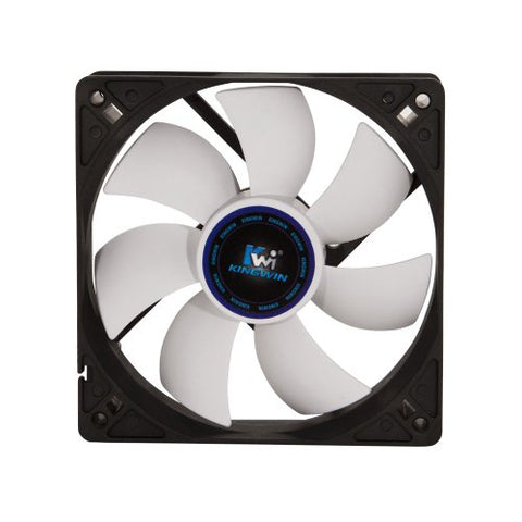 Kingwin CF-012LBW Black and White Long Life Bearing 120mm Case Fan