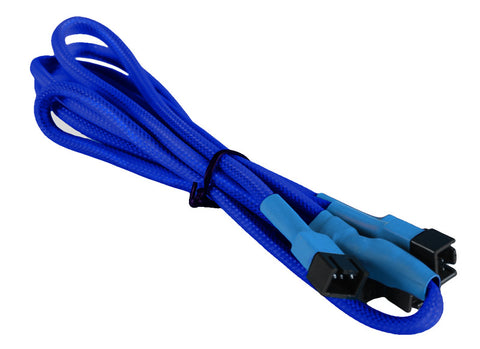 Image of BattleBorn DarkBlue 3-Pin Fan to 4 x 3-Pin Braided Cable (Dark Blue)