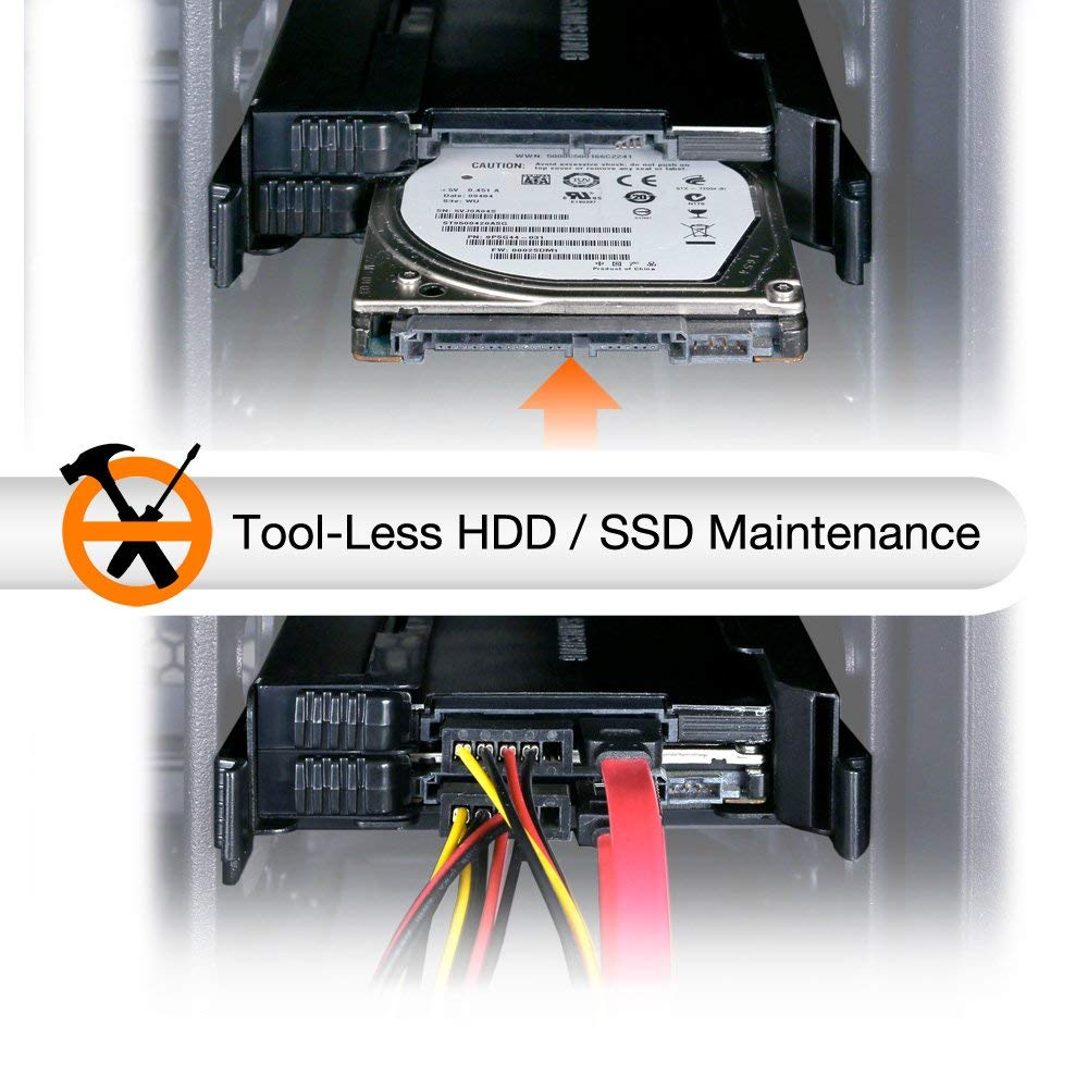 ICY DOCK MB082SP-1 EZ-FIT PRO Dual 2.5 HDD & SSD Full Metal Mounting Bracket for Internal 3.5 Drive Bay w/ Cable