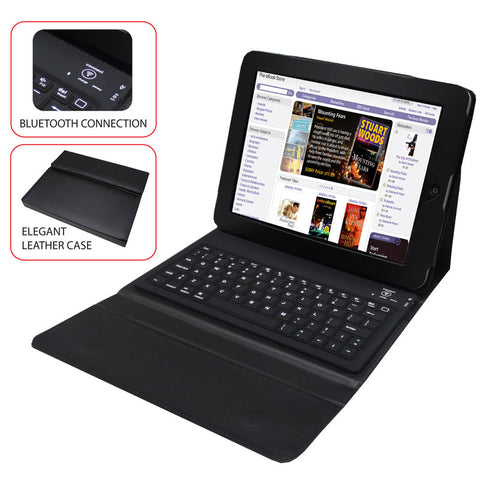"Image of SuperSonic SC107KB 7"" Tablet Folio Case with Keyboard (Black)"