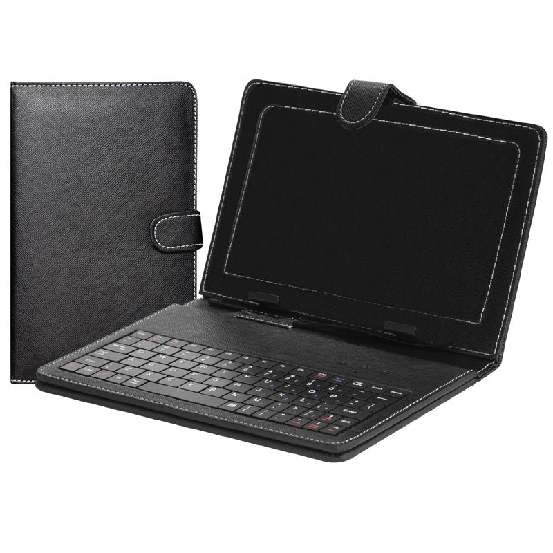 "SuperSonic SC107KB 7"" Tablet Folio Case with Keyboard (Black)"