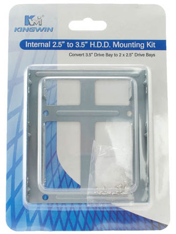 "Image of Kingwin HDM-225 Internal 2.5"" to 3.5"" Hard Drive Mounting Kit"