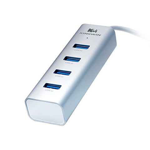 Image of Kingwin KWZ-400 Aluminum 4-Port USB 3.0 Hub