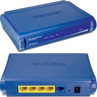TRENDnet TW100-S4W1CA 4-Port Ethernet Broadband Router