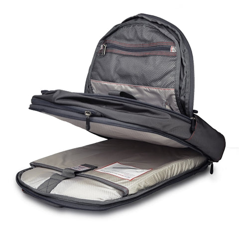 ECBC Javelin Nylon Laptop Daypack Backpack w/Security Fast Pass - Fits up to 17 Laptops (Gray) - B7102-30