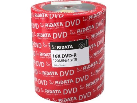 Image of RiDATA 4.7GB 16X DVD-R 100 Packs Shrink Wrap Model DRD-4716-RD100ECOW