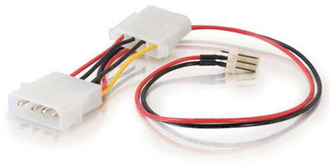 "Image of C2G 27078 6"" 3-pin Fan to 4-pin Pass-Through Power Cable"
