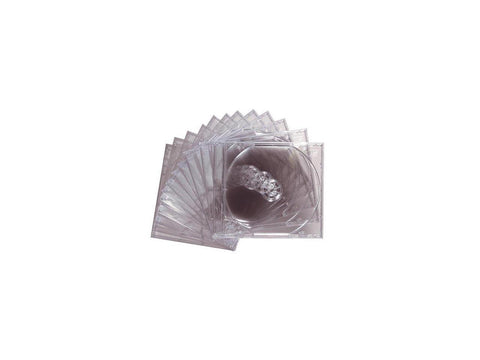 Image of Maxell CD/DVD Jewel Cases CD-360 - Jewel Case - Book Fold - Plastic - Clear - 12 pack