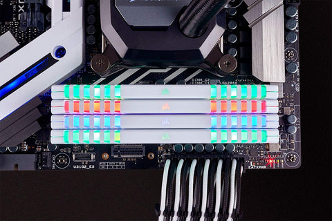 Image of CORSAIR Vengeance RGB 16GB (2 x 8GB) 288-Pin SDRAM DDR4 3600 (PC4 28800) Memory CMR16GX4M2C3600C18W
