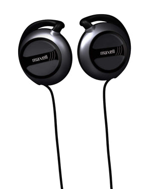 Maxell Stereo Ear Clips - Black - Wired - 32 Ohm - 20 Hz 22 kHz - Silver Plated Connector HEADPHONE 190561