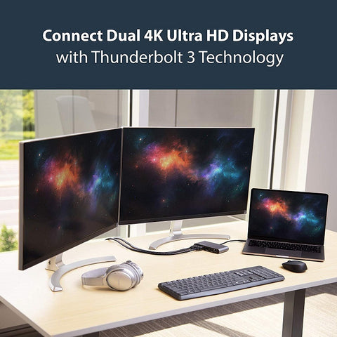 Image of StarTech.com Mini Dual 4K Monitor Thunderbolt 3 Dock with HDMI - Mac & Windows TB3DKM2HD
