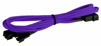 Image of BattleBorn CB-33F12V Molex to 2 x 3pin Cable - Braided Sleeve Purple
