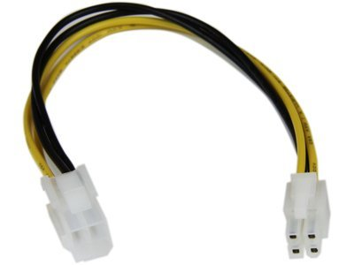 "StarTech ATXP4EXT 8"" P4 4-Pin ATX12V Power Extension Cable"