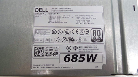 Dell Precision T5610 T5810 T7810 685W Power Supply W4DTF D685EF-01 CYP9P K8CDY