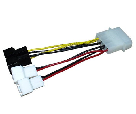 Zalman ZM-MC1 4-Pin Molex to 3-Pin 5V & 12V Fan Power Connectors