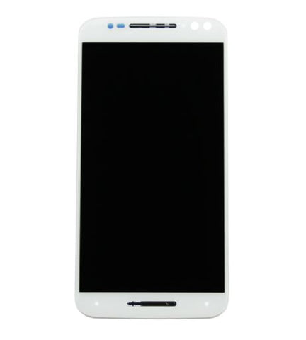 LCD Front Assembly with Frame for Motorola X Pure - White