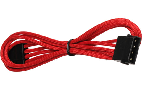 Image of BattleBorn Single Molex Extension 45cm Red Braided Cable